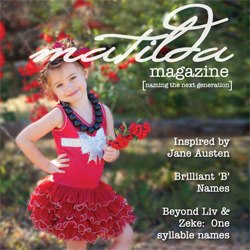 Cover of Matilda Magazine 2nd Issue