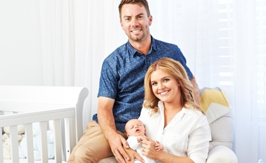 Ben and Jemma Van Ryt with their newborn son Thomas James
